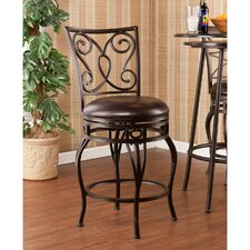 "Bradley 25.25"" Swivel Bar Stool with Cushion"