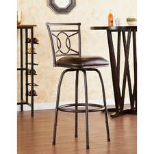 "Savannah 24"" Adjustable Swivel Bar Stool with Cushion"