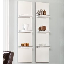 <strong>Wildon Home ®</strong> Newton Mirrored Wall Shelf (Set of 2)