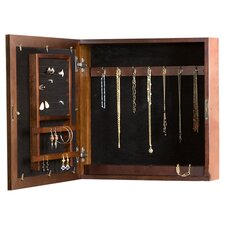 Sassafras Wall Mount Jewelry Armoire in Espresso