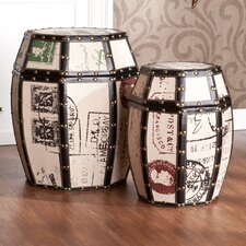 <strong>Wildon Home ®</strong> Mullins Vintage Storage Drums (Set of 2)