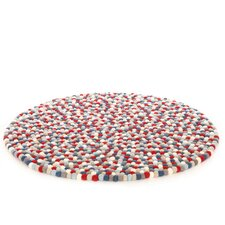 Happy as Larry Firecracker Felt Ball Kids Rug