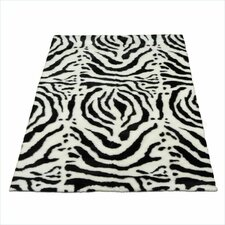 <strong>Walk On Me</strong> Animal Zebra White Spine Rug