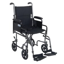 Steel Ultra Lightweight Transport Wheelchair with Swing Away Footrests