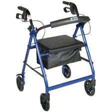 Fold Up and Removable Back Support Rolling Walker