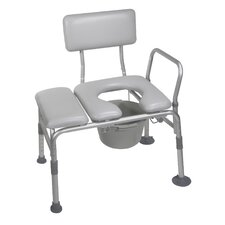 Combination Padded Seat Transfer Bench Commode