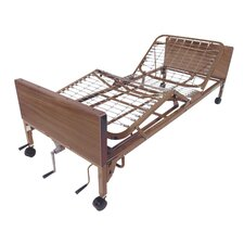 Manual Hospital Bed in Brown