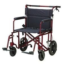 "22"" Lightweight Transport Bariatric Wheelchair"