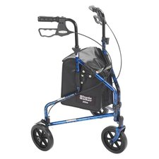 3 Wheel Rollator Walker with Basket Tray and Pouch