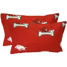 Arkansas Razorbacks King Pillow Case Set