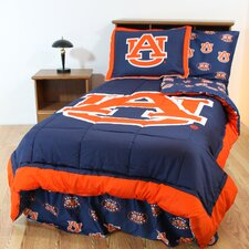 NCAA Auburn Bed in a Bag - With White Sheets