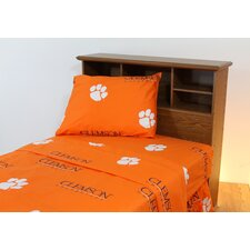 NCAA Printed Sheet Set with Team Colored Sheets