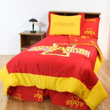 NCAA Iowa State Bed in a Bag - With White Sheets