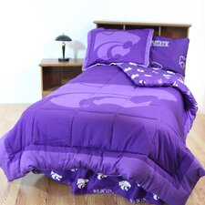 NCAA Kansas State Bed in a Bag - With White Sheets