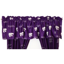 NCAA Cotton Sateen Printed Rod Pocket Tailored Curtain Valance