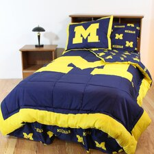 NCAA Michigan Bed in a Bag - With White Sheets