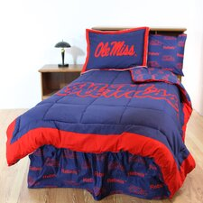 NCAA Ole Miss Bed in a Bag with Team Colored Sheets Collection