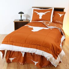 NCAA Bed in a Bag Set with White Sheets Collection
