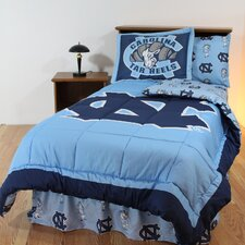 NCAA North Carolina Bed in a Bag with Team Colored Sheets Collection