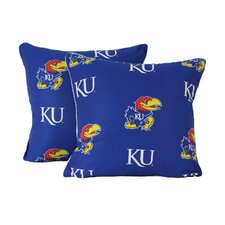 NCAA Kansas Throw Pillow (Set of 2)