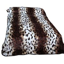 Leopard Polyester Throw Blanket