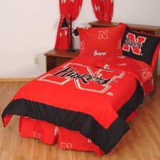 NCAA Nebraska Bed in a Bag - With White Sheets