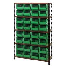 Boltless Particle Board Shelf with Various Bins (Complete Package)