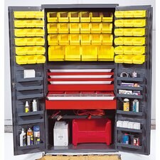 "36"" Wide Welded Storage Cabinet with 58 Ultra Bins"