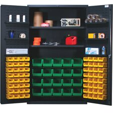 "<strong>Quantum Storage</strong> 48"" Wide Welded Storage Cabinet with 84 Ultra Bins"