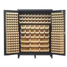 "60"" Super Wide Heavy Duty Storage Cabinet with 227 Ultra Bins"