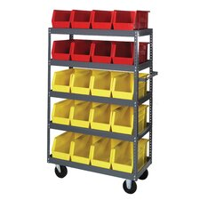 "18"" Shelf Truck with Bins"