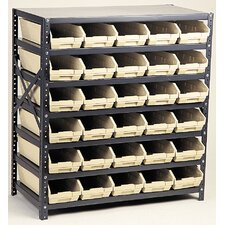 "Economy Shelf Storage Units (39"" H x 36"" W x 18"" D) with Bins"