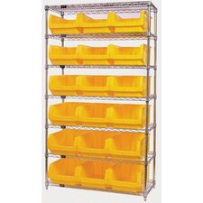 "Q-Stor 74"" H 6 Shelf Shelving Unit Starter"
