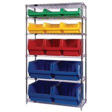 "Q-Stor 74"" H 5 Shelf Shelving Unit Starter"