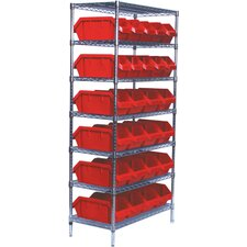 <strong>Quantum Storage</strong> Quick Pick Bins Wire Shelving Storage Units with Bins and Optional Mobile Kit