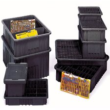 "Conductive Dividable Grid Storage Containers (5"" H x 8 1/4"" W x 10 7/8"" D)"