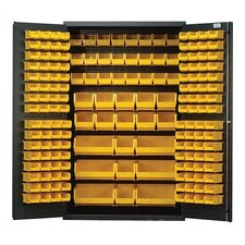 "<strong>Quantum Storage</strong> 48"" Wide Welded Storage Cabinet with 171 Ultra Bins"