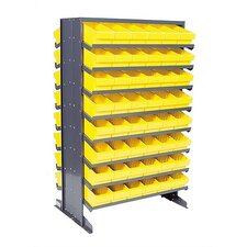 Double Sided Pick Rack Storage Systems with Euro Bins