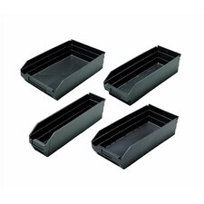 "Conductive Quantum Economy Shelf Bins (4"" H x 2 3/4"" W x 11 5/8"" D) (Set of 36)"