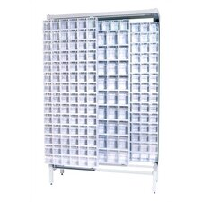 <strong>Quantum Storage</strong> Free Standing Slider Storage System with 5 and 6 Compartment Tip Out Bins