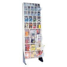 "75"" Single Sided Floor Stand Storage Unit with Tip Out Bins"