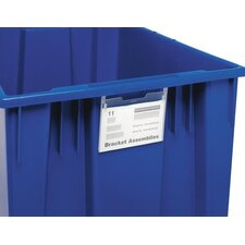 Label Holder for Stack and Nest Totes and Cross Stack Tubs