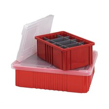 <strong>Quantum Storage</strong> Dividable Grid Storage Container Clear Covers 10 Piece Set