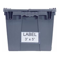 <strong>Quantum Storage</strong> Attached Top Storage Container Clear Label Holder (Set of 25)