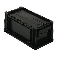 Heavy Straight Wall Stacking Storage Container with Attached Lid