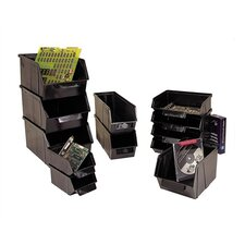 "Conductive Stack and Lock Bin (6 1/8"" H x 8 1/8"" W x 13 1/2"" D) (Set of 8)"