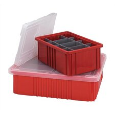 "Dividable Grid Storage Clear Container Cover (17 1/2"") (Set of 3)"