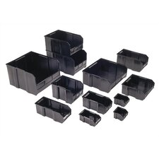 "Conductive Ultra Series Bin with Optional Dividers (7"" H x 8 1/4"" W x 10 3/4"" D)"