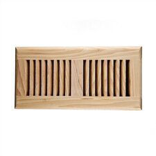"4"" x 10"" Hickory Self Rimming Wood Vent Cover with Metal Damper"