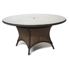 "Grand Traverse 48"" Round Glass Umbrella Dining Table"